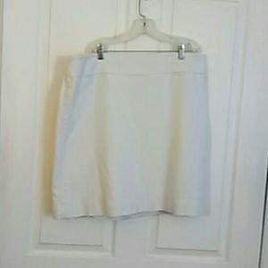 Talbots cotton skirt with lining